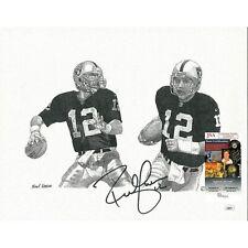 Rich Gannon Signed Raiders 11x14 Print Frank Nareau Artwork JSA Autograph Cert