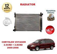 FOR CHRYSLER VOYAGER 2.5 + 2.8 CRD 2000-2008 NEW RADIATOR UNIT