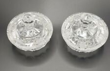 Pair of Vintage Czechoslovakian Cut Crystal Dishes