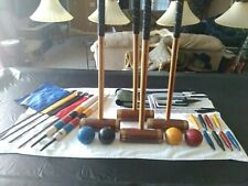 croquet set light use excel cond. Hurlingham mallets carrying case free shipping