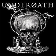 UNDEROATH 1.5-inch Square BADGE Button Pin Skull Logo NEW OFFICIAL MERCHANDISE