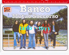 BANCO DEL MUTUO SOCCORSO - postcard - cartolina Ciao 2001 - italian prog rock