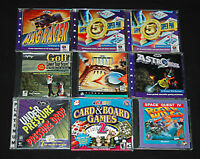 Video Games Lot 9 Windows Macintosh PC CD-ROM Action Classics Softkey Vintage