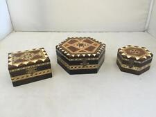 3 Symmetric Pattern Jewellery Trinket Boxes