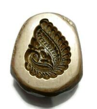 VINTAGE INDIA - BRONZE JEWELRY DIE MOLD  - HAND ENGRAVED PEACOCK EARING MOLD