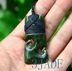 Green+Nephrite+Jade+Double+Koru+Hei+Toki+Pendant+Necklace+NZ+Maori+Style+Jewelry