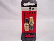 Milton S684-4 1/4 NPT TANK VALVE 2 PACK MADE IN THE USA PRESSURE TESTING