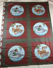 6 Block Panel Ducks Shore Birds Pillow Quilt Fabric Squares Cotton Quilting