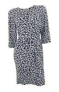 Marks & Spencer Blue Print Crepe Simple Tunic Shift Orig Price £39