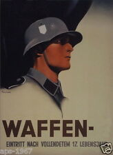 German WW2 Wehrmacht Waffen SS Officer large Poster