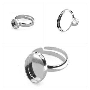 925 Sterling Silver ADJUSTABLE RING blanks - 8mm, 10mm, 14mm, 18mm, 25mm