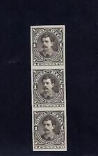 COSTA RICA (G23A150) BERNARDO SOTO,PLATE PROOF VERTICAL STRIP,MENA PP21 MNG 1889