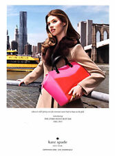 2013 Kate Spade woman carrying Park Avenue Beau bag NY New York MAGAZINE AD