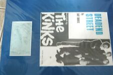 More details for kinks signed autograph book page by peter, mick dave & ray with deadend street