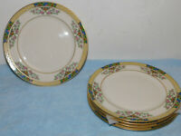 """4 Lenox The Orchard Salad Plates 8 3/8"""" Excellent Cond."""