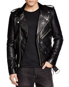 Men Leather Black Biker Slimfit Jacket