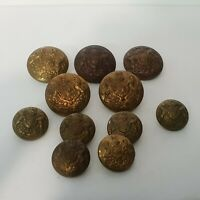 11  WW1 WW2 British Army General Service Buttons 5 large 6 small Various makers