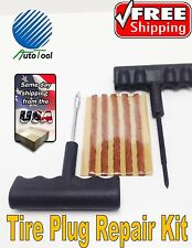 Tire Repair Kit 7 pc Set Plug Patch Flat Tubeless Car Truck Motorcycle REAMER