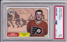 Bernie Parent 1968 Topps #89 ROOKIE Hockey Card Graded PSA 7 NM RC Flyers HOF