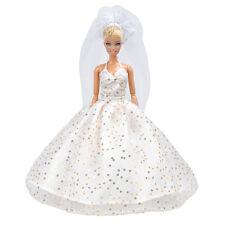 Handmade Puppen Kleidung Wei�Ÿ Hochzeit Party Kleider Rock Für Barbie Puppen
