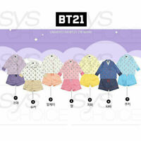 BTS BT21 Official Authentic Goods Three-quarter sleeve Pajamas + Tracking Number