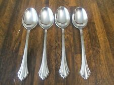 """Oneida BANCROFT FORTUNE Stainless 6 7/8"""" Oval Soup Spoons Set of 4"""