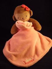 Carters Just One You Baby Blanket Lovey~I Adore Mommy~Pink~Monkey~Security~VGC