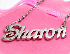 Name Necklace SHARON - 18ct White Gold Plated - Jewellery Engagement Stylish