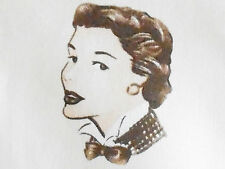 1YD Retro 1950's Style FASHION MODELS Vintage Vogue Jackie O Sienna Brown Sewing