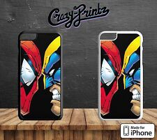 Spiderman vs Wolverine Marvel Superhero Hard Case Cover for all iPhone Models V5