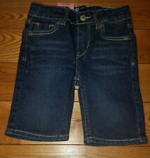 ddccec18 Levi's Toddler Girls Size 2t Adjustable Waist Bermuda Jean Shorts Blue Denim