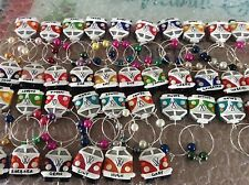 wine glass charm Campervan bus wedding favours personalised Christmas party hen