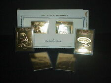 The Danbury Mint Star Trek Voyager The Next Generation Cards 22KT Gold Box Set 6