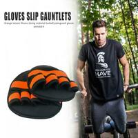 2x Training Gloves Non-slip Gym Fitness Exercise Grip Pads Protector Free Size