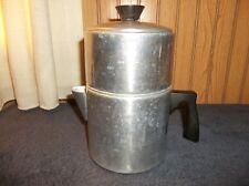 Vintage 5-7 Cup Mirro / Foley?? Aluminum Dripolator Coffee Pot 4 Pc Stove Top