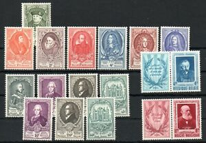 BELGIUM , 1952 , very scarce long KEY set THURN and TAXIS and MUCH MORE , MNH !