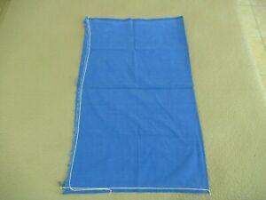 "Vintage STILL UNOPENED Feed Sack, Nice BLUE Color; 36"" x 23""; Good !"