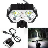 Durable Cool 6000LM 2 X XM-L T6 LED USB Waterproof Lamp Bike Bicycle Headlight