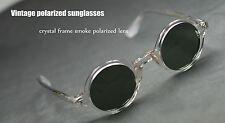 Vintage 1960's Depp artists polarized sunglasses round crystal frame smoke lens