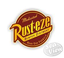 Rusteze Rusty Rust Cars Lightning McQueen Car Van Stickers Decal Funny Sticker