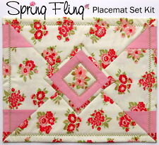 SPRING FLING REVERSIBLE PLACEMATS KIT - Set of 4- Moda Fabric & Pattern Included
