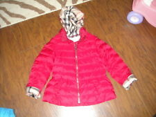 BURBERRY GIRLS 8Y 8 GIRLS PINK COAT WHITE SNOW GOOSE DOWN