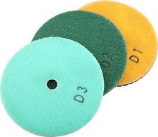 "4"" 3-Step Wet / Dry Diamond Polishing Pads Set of 3 PCS for Granite/Marble/Stone"
