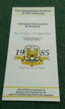 Summer 1985 VW INTERNATIONAL FESTIVAL MOTORING - UK BROCHURE Beetle Golf Passat