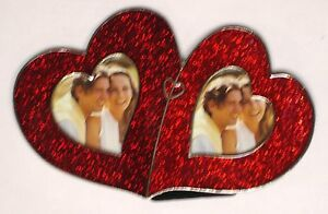 """2 - 2 x 2"""" Double Red Heart Item # 965 . ROCKET FAST SHIPPING !!!"""