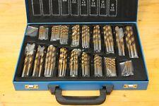 Spiralbohrer-set Metallbohrer Im Metallkoffer 1-10mm HSS Tin 170tlg