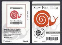 Italia Repubblica 2017 Tessera Filatelica Slow Food Italia