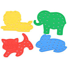 Plastic Animal Lacing Threading Board Toy Kids Educational Toys
