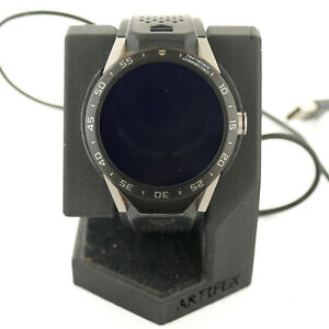 TAG HEUER CONNECTED SAR8A80 TITANIUM VULCANIZED RUBBER MENS SMARTWATCH+CHARGER