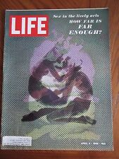 Life Magazine Sex in the Lively Arts How Far is Far Enough April 1969